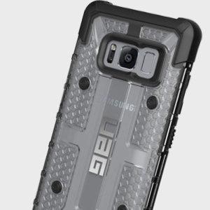 La funda Urban Armour Gear para el Samsung Galaxy S8 proporciona una protección resistente con el logo de UAG fabricado en metal pulido.