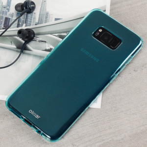 Custom moulded for the Samsung Galaxy S8, this blue FlexiShield case by Olixar provides slim fitting and durable protection against damage.