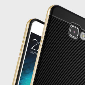 Hybrid layers of robust TPU and hardened polycarbonate with a premium matte finish non-slip carbon fibre design, the Olixar X-Duo case in black and gold keeps your Samsung Galaxy A5 2017 safe, sleek and stylish.