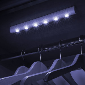 Bring light to even the darkest corners of any room with this strip of 6 motion sensitive super-bright LED lights. Two mounting fixture options and an ultra-compact size ensure this light strip is perfect for anywhere that needs to be illuminated.