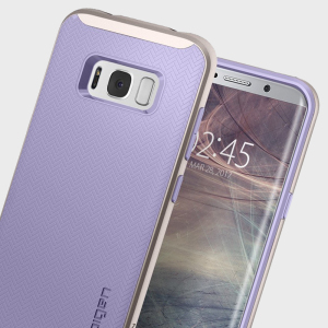 The Spigen Neo Hybrid in violet is the new leader in lightweight protective cases. Spigen's new Air Cushion Technology reduces the thickness of the case while providing optimal corner protection for your Samsung Galaxy S8.