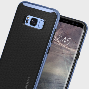 The Spigen Neo Hybrid in blue coral is the new leader in lightweight protective cases. Spigen's new Air Cushion Technology reduces the thickness of the case while providing optimal corner protection for your Samsung Galaxy S8.