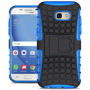 Protect your Samsung Galaxy A5 2017 from bumps and scrapes with this blue ArmourDillo case. Comprised of an inner TPU case and an outer impact-resistant exoskeleton, offering sturdy and robust protection, but also a sleek modern styling.