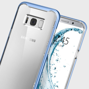 Preserve the super-sleek profile of your awesome Samsung Galaxy S8 while giving it maximum protection with this blue Neo Hybrid Crystal case from Spigen.