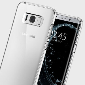 Protect your Samsung Galaxy S8 with the unique Ultra Hybrid clear bumper from Spigen. Complete with a clear back and air cushion technology to show off and protect your Galaxy S8's sleek, modern design.