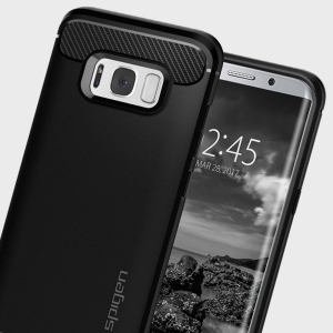 Meet the newly designed rugged armor case for the Samsung Galaxy S8. Made from flexible, rugged TPU and featuring a mechanical design, including a carbon fibre texture, the rugged armor tough case in black keeps your phone safe and slim.