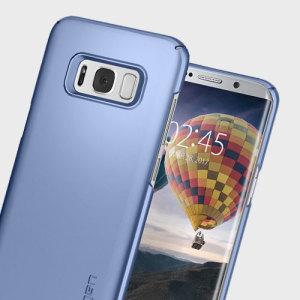Durable and lightweight, the Spigen Thin Fit series for the Samsung Galaxy S8 offers premium protection in a slim, stylish package. Carefully designed the Thin Fit case in blue coral is form-fitted for a perfect fit.