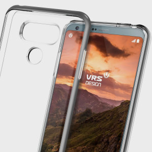 Protect your LG G6 with this precisely designed dark silver case from VRS Design. Made with a sturdy yet minimalist design, this see-through case offers protection for your phone while still revealing the beauty within.