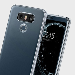 Durable and lightweight, the Spigen Liquid Crystal for the LG G6 offers premium protection in a slim, stylish package. Carefully designed this clear case in clear is form-fitted for a perfect fit, that shows off your phone's styling.