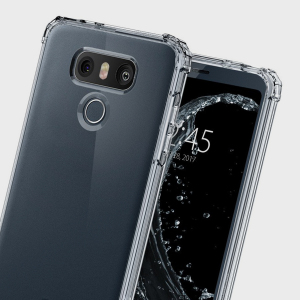 Protect your LG G6 with military grade precision. The Spigen Crystal Shell has Air Cushion Technology and 4 reinforced corner guards for added impact and drop protection.