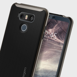 The Spigen Neo Hybrid in gunmetal is the new leader in lightweight protective cases. Spigen's new Air Cushion Technology reduces the thickness of the case while providing optimal corner protection for your LG G6.