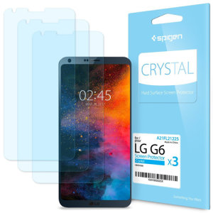 Designed to provide superb clarity and substantial protection for the LG G6 against knocks, bruising and scratches. This Spigen Crystal Screen Protector for the LG G6 comes in a 3 pack, making it a very cost effective protective measure.