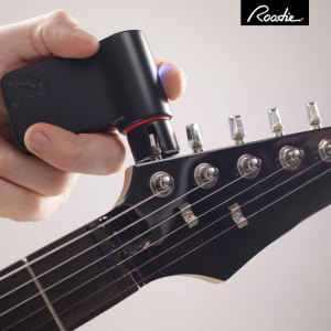 The Roadie smart guitar tuner is an indispensable tool for novice bedroom players and master guitar geniuses alike. Simply attach Roadie to your guitar's tuning peg, play the string and Roadie will automatically tune your guitar for you.