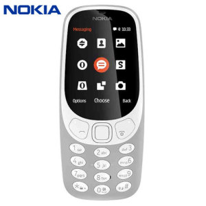 Unlocked Nokia 3310 in grey. Taking the best of the original 3310 released back in 2000, the Nokia 3310 (2017) adds a colour display, Micro SD card expansion, 2MB camera, FM radio and Bluetooth compatibility. And yes, you can again play Snake!