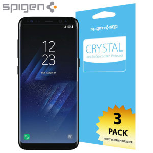 Protection d'écran Samsung Galaxy S8 Spigen Crystal (Pack de 3)