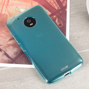 Custom moulded for the Motorola Moto G5 Plus this blue FlexiShield case by Olixar provides slim fitting and durable protection against damage.