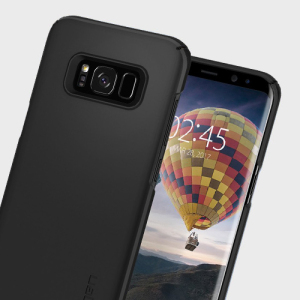 Durable and lightweight, the Spigen Thin Fit series for the Samsung Galaxy S8 Plus offers premium protection in a slim, stylish package. Carefully designed the Thin Fit case in black is form-fitted for a perfect fit.