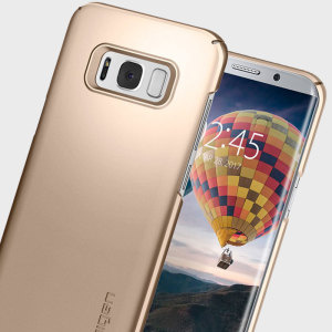 Durable and lightweight, the Spigen Thin Fit series for the Samsung Galaxy S8 Plus offers premium protection in a slim, stylish package. Carefully designed the Thin Fit case in champagne gold is form-fitted for a perfect fit.