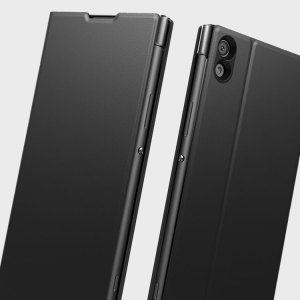 This high quality official bi-fold folio case from Sony houses your Xperia XA1 Ultra smartphone, providing protection and access to your ports and features while incorporating a built-in viewing stand - in black.