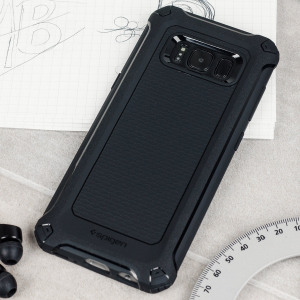 Meet the newly designed rugged armor extra case for the Samsung Galaxy S8 Plus. Made from flexible, rugged TPU and featuring a mechanical design, including a carbon fibre texture, the rugged armor tough case in black keeps your phone safe and slim.