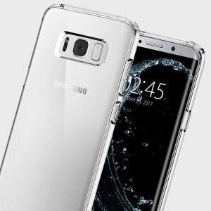 Beskytt din Samsung Galaxy S8 Plus med den unike bumpern med luftvatterte hjørne fra Spigen.