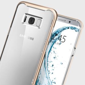 Bewaar het superzijdige profiel van uw geweldige Samsung Galaxy S8 Plus, terwijl u het maximale beveiliging biedt met deze Neo Hybrid Crystal-tas van Spigen.