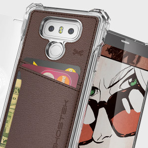 The Exec premium case in brown comes complete with a tempered glass screen protector to provide your LG G6 with fantastic protection. Also featuring storage slots for your credit cards, ID and cash.