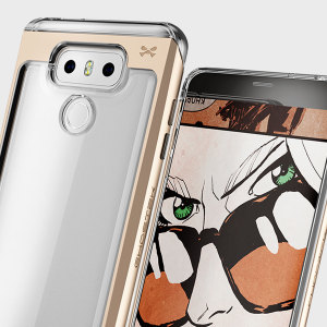 The Cloak 2 Series Protective case in gold and clear from Ghostek comes complete with a screen protector to provide your LG G6 with fantastic all round protection.