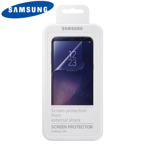Keep your Samsung Galaxy S8 Plus screen in fantastic condition with the official Samsung scratch resistant screen protector.