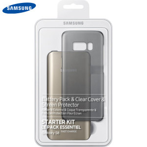 Protect your Samsung Galaxy S8 from scrapes, scratches and knocks while making sure you've always got enough power with this official Starter Kit from Samsung. Comes complete with a clear cover, screen protector and battery pack.