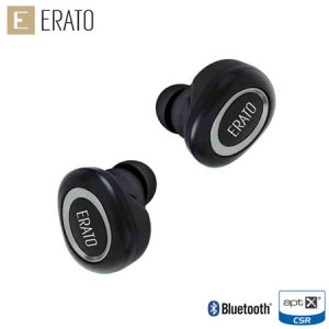 The Muse 5 Bluetooth earphones from Erato offer exceptional sound quality in a truly wireless package. Erato's patented FitSeal construction guarantees a perfect fit with total comfort, while EratoSurround technology delivers balanced, powerful sound.