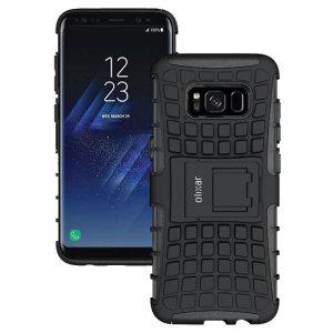 Beskytt din Samsung Galaxy S8 Plus mot støtskader og riper med dekslet ArmourDillo. Bestående av et indre TPU-deksel og et ytre støttåelig skjelett, gir Armourdillo ikke bare et stabilt og robust beskyttelse men også en stilig og moderne design.
