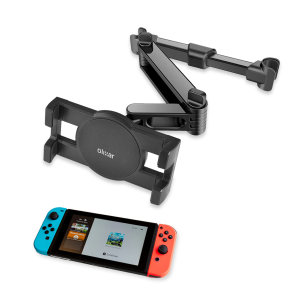 Easy to install, this Nintendo Switch car headrest mount from Olixar places your gaming console in the rear of the car, resulting in a comfortable viewing angle while your family play their favourite games.