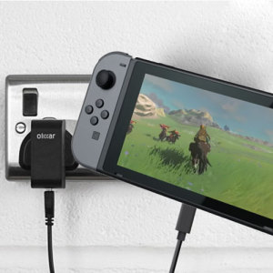 Charge your Nintendo Switch and any other USB device quickly and conveniently with this compatible 2.4A high power USB-C UK charging kit. Featuring a UK wall adapter and USB-C cable.