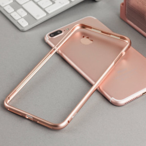 This unique bumper from Torrii in rose gold uses an ingenious magnetic locking mechanism for a tight, secure attachment to your iPhone 7 Plus. Comes complete with a PET film for the rear of your device as well as a tempered glass screen protector.