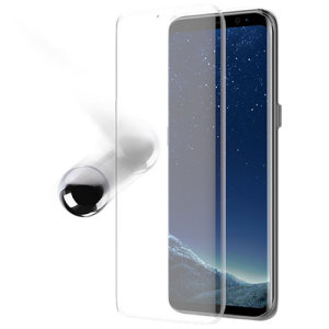 Keep your Samsung Galaxy S8 screen in pristine condition with the ultra thin OtterBox Alpha Glass Screen Protector with anti-shatter protection and Reactive Touch Technology.