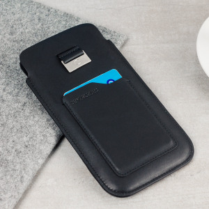 Treat your Samsung Galaxy S8 to this elaborately crafted yet understated genuine leather pouch case in black from Beyza. Also featuring a card slot for carrying credit cards, ID, cash or whatever else you need to travel light.