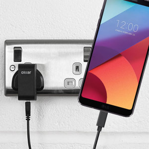 Charge your LG G6 and any other USB device quickly and conveniently with this compatible 2.4A high power USB-C UK charging kit. Featuring a UK wall adapter and USB-C cable.