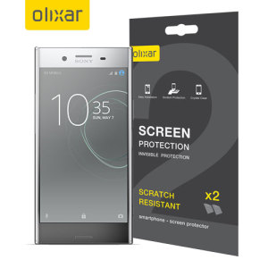 Keep your Sony Xperia XZ Premium's screen in pristine condition with this Olixar scratch-resistant screen protector 2-in-1 pack.