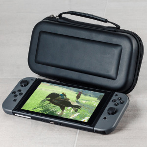Keep your Nintendo Switch safe and protected with this sturdy yet stylish case. Comes complete with storage space for game cards and accessories, as well as a soft interior which will protect both your Switch and Joy-Con controllers from everyday life.