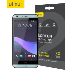 Keep your HTC Desire 650 screen in pristine condition with this Olixar scratch-resistant screen protector 2-in-1 pack.