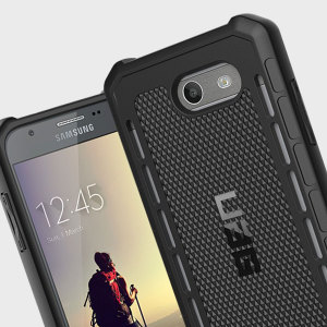 The Urban Armour Gear Outback for the Samsung Galaxy J3 2017 features a protective TPU case in black with cleverly conceived anti-skid pads and a  lightweight but rugged frame - all in one sleek protective package.