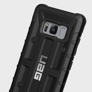 The Urban Armour Gear Pathfinder black rugged case for the Samsung Galaxy S8 Plus features a classic tough-looking, composite design with a soft impact-absorbing core and hard exterior that provides superb protection in all situations.