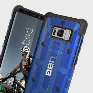 The Urban Armour Gear Plasma for the Samsung Galaxy S8 features a protective TPU case in cobalt with a brushed metal UAG logo insert for an amazing design.