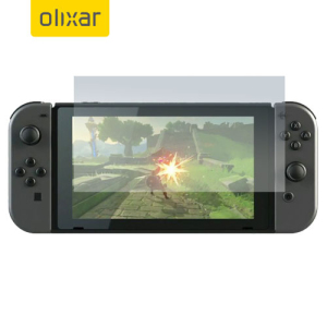 Keep your Nintendo Switch screen in pristine condition with this Olixar scratch-resistant screen protector 2-in-1 pack.