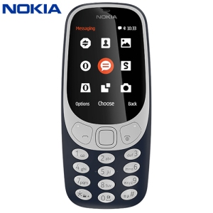 Unlocked Nokia 3310 in blue. Taking the best of the original 3310 released back in 2000, the Nokia 3310 (2017) adds a colour display, Micro SD card expansion, 2MB camera, FM radio and Bluetooth compatibility. And yes, you can again play Snake!