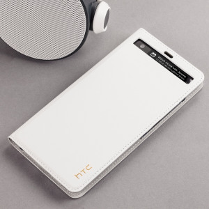 Combining an attractive, professional build with sturdy and durable protection, this official genuine leather flip case in milky white is the premier option for your HTC U Ultra.