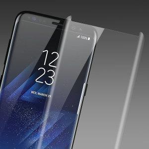 Préservez l'écran de votre Samsung Galaxy S8 Plus dans un état impeccable à l'aide de le protection d'écran en verre trempé Olixar. Conçue pour couvrir l'intégralité de l'écran ainsi que les bords incurvés de votre smartphone, sa conception est également compatible avec une majorité de coques.