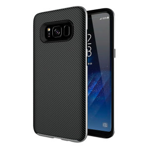 Hybrid layers of robust TPU and hardened polycarbonate with a premium matte finish non-slip carbon fibre design, the Olixar X-Duo case in black and silver keeps your Samsung Galaxy S8 safe, sleek and stylish.