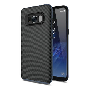 Hybrid layers of robust TPU and hardened polycarbonate with a premium matte finish non-slip carbon fibre design, the Olixar XDuo case in black and metallic grey keeps your Samsung Galaxy S8 Plus safe, sleek and stylish.